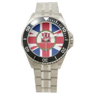 Briten/Gibraltar-Flaggen-Uhr Uhr