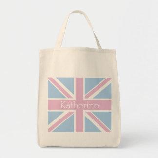 Briten inspirierten rosa und blauen tragetasche