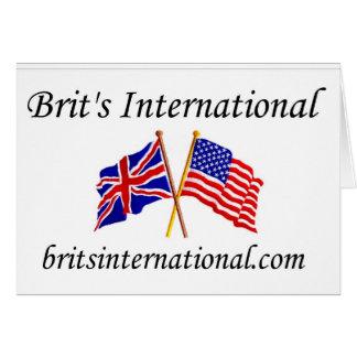 Briten international im Weiß Karte