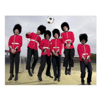 Briten-Schutz, der Fußball spielt Postkarte