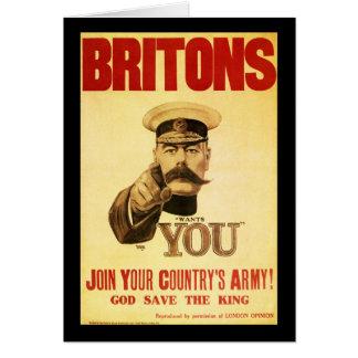 Briten will Sie, Lord kitchener Karte