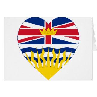 Britisch-Columbia-Flaggen-Herz Karte