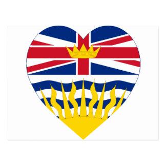 Britisch-Columbia-Flaggen-Herz Postkarte