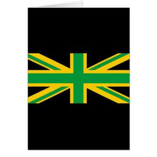 Britisch - jamaikanischer Gewerkschafts-Jack Karte