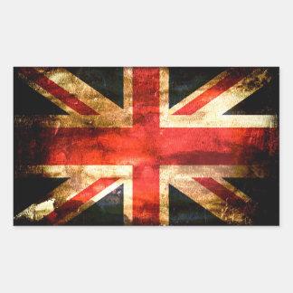 Britisch Rechteckiger Aufkleber