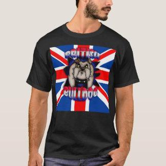 Britische Bulldogge mit Gewerkschafts-Jack-T - T-Shirt