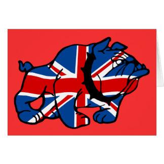 Britische Bulldogge patriotische Briten Karte