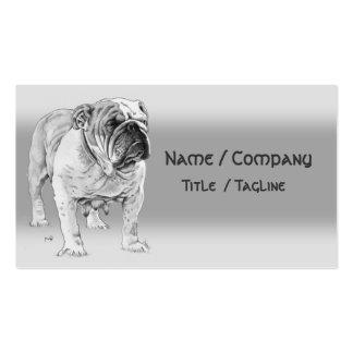 Britische Bulldogge Visitenkarten