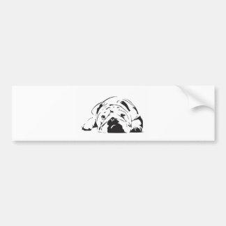 Britische Bulldoggen-Schablone Autoaufkleber