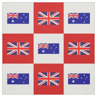 BRITISCHE Flagge, Australien-Flagge auf Rotem u. Stoff