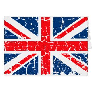 Britische Flagge beunruhigt Karte