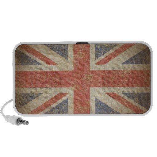 Britische Flagge beunruhigt Tragbare Speaker