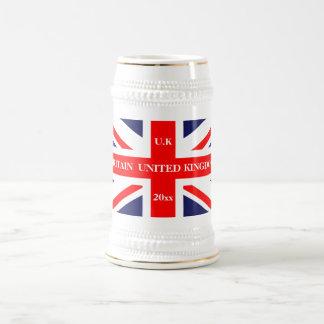 Britische Flagge Bierglas