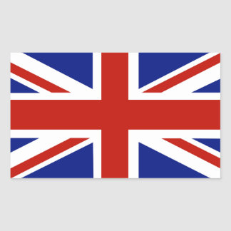 BRITISCHE Flagge, Gewerkschafts-Jack Rechteckiger Aufkleber