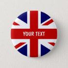 Britische Flagge knöpft | personalisierten Runder Button 5,7 Cm