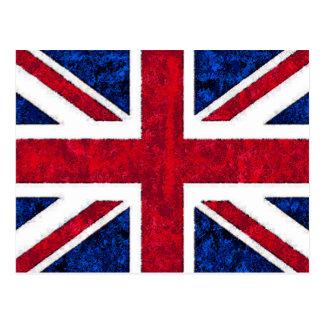 BRITISCHE FLAGGE POSTKARTE