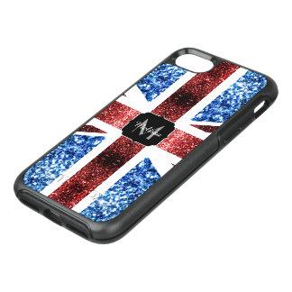 BRITISCHE Flagge rotes und blaues Glitzern-Glitter OtterBox Symmetry iPhone 8/7 Hülle