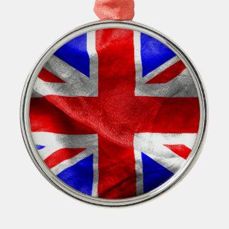 Britische Flagge Silbernes Ornament
