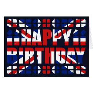BRITISCHE Flaggen-Geburtstags-Karte Karte