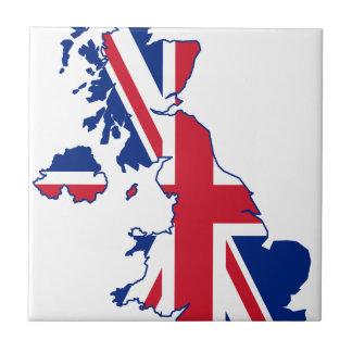 BRITISCHE Flaggen-Karte Fliese