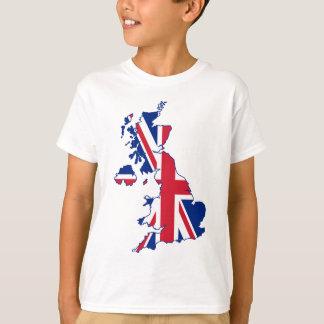 BRITISCHE Flaggen-Karte T-Shirt