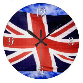 BRITISCHE Flaggen-u. Himmel-stolze patriotische Große Wanduhr