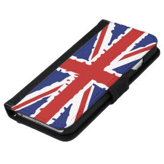 Britische Flaggenspritzenfarbe Geldbeutel Hülle Für Das iPhone 6/6s
