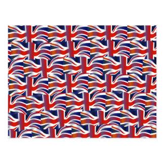 Britische gewellte Flaggen-Tapete Postkarte