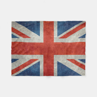 BRITISCHE Gewerkschafts-Jack-Flagge in den Fleecedecke
