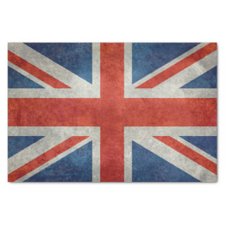 BRITISCHE Gewerkschafts-Jack-Flagge in den Seidenpapier