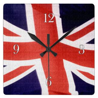 BRITISCHE Gewerkschafts-Jack-Flaggen-patriotische Quadratische Wanduhr