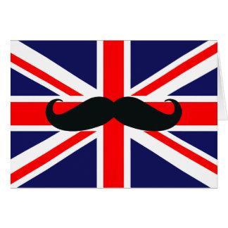 BRITISCHE Großbritannien-Flagge mit Karte