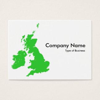 Britische Inseln - Grün Visitenkarte