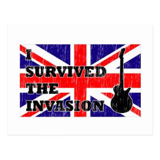 Britische Invasion Postkarte