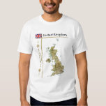 BRITISCHE Karte + Flagge + Titel-T - Shirt