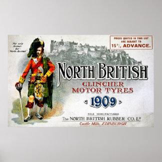 Britische Klammer-Bewegungsnordreifen - Vintages Plakate