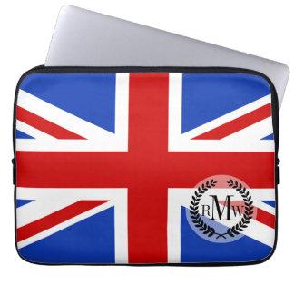 Britische Königreich-Flagge Laptopschutzhülle