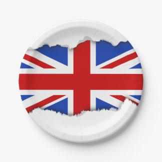 Britische Königreich-Flagge Pappteller