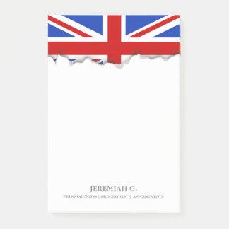 Britische Königreich-Flagge Post-it Klebezettel