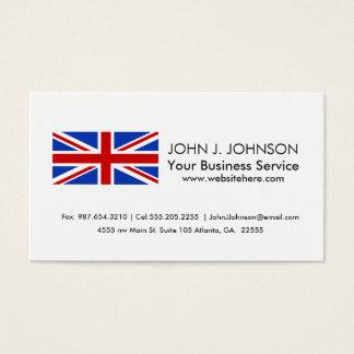 Britische Königreich-Flagge Visitenkarte