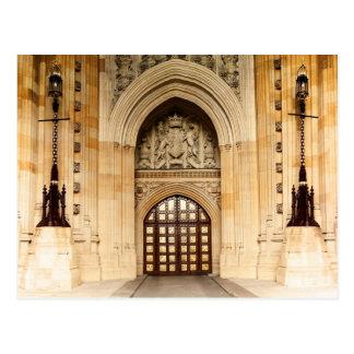 Britische Parlaments-Tür-Architektur Postkarte