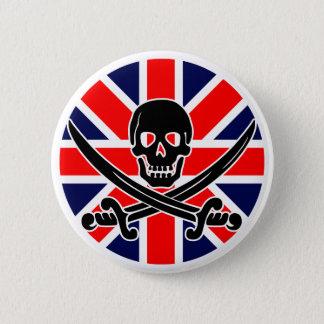 BRITISCHE Piratenflagge Runder Button 5,1 Cm