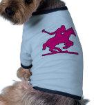 Britische Polo-Sport-Pferdespieler-Silhouette-Pony Haustierkleidung