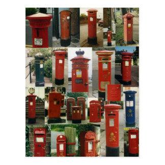 Britische Postboxes Postkarte