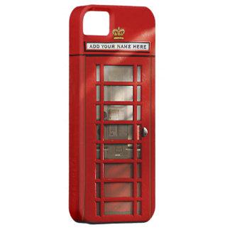 Britische rote Telefonzelle personalisiert iPhone 5 Schutzhülle