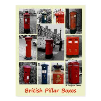 Britische Säulenkästen Postkarte