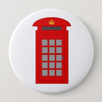 Britische Telefonzelle Runder Button 10,2 Cm
