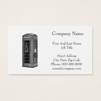 Britische Telefonzelle-Schwarzweiss-Illustration Visitenkarte