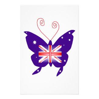 Britischer Diva-Schmetterling Individuelle Büropapiere