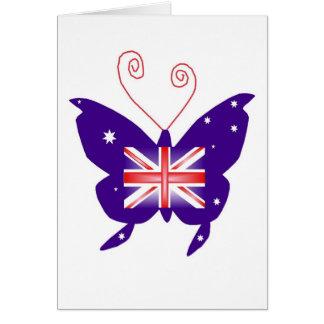 Britischer Diva-Schmetterling Grußkarten